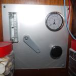 Druckanzeige und Durchflussmesser