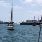 Viel Verkehr im Hafen Anfang der Woche
