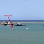 Kassiopeia im Hafen von Praia