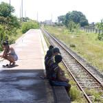 Warten auf den Zug...