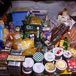 Lebensmittel, viele davon fränkische